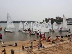 Opti fleet leaving shore Dec 2019